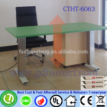 aluminum frame electric height adjustable office table computer desk for student