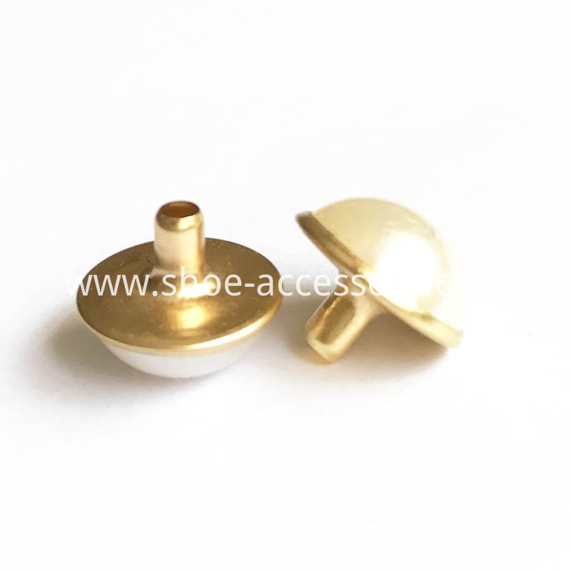 12mm decorative rivets with gold setting