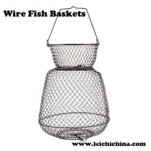 High Quality Collapsible Wire Fish Baskets