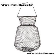 Cestas de peixe de fio dobrável de alta qualidade