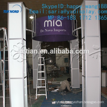 Customized modular portable3x6m (10x20ft) exhibition booth as exhibition system with led pillar