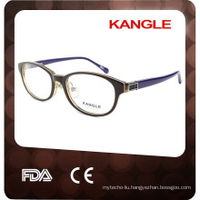 Lady acetate optical eyeglasses with metal nosepads for 2017