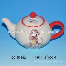 Popular monkey design ceramic teapot for tableware