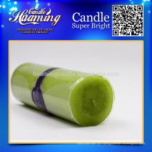 Huaming velas decoradas / Velas de pilar branco atacado / branco velas de casa para decoração