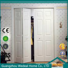 Passage se pliant d'accordéon / placard / portes françaises en bois de blanchisserie