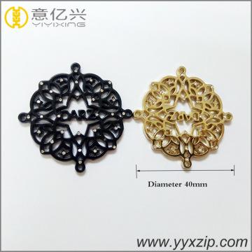 custom hollow gold round plate with diamond