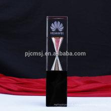 Último trofeo de cristal del nuevo diseño con reloj de arena