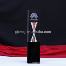 Mais recente design novo tipo de troféu de cristal com ampulheta