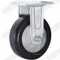 Roulette pivotante en caoutchouc élastique à noyau en nylon résistant (G4403D)