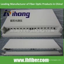 19 '' montagem em rack 1U Fibra Óptica Deslizante Patch Panel / ODF com bandeja frontal removível