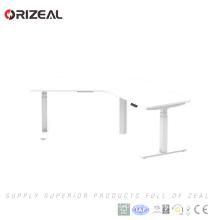 Electric standing adjustable height Corner Standing Desk Frame For sale