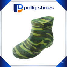 Fabrik-Versorgungsmaterial-schwarze hohe Zylinder-PVC-Regen-Schuhe