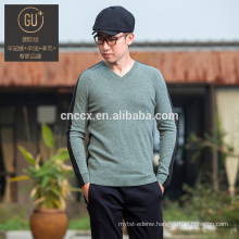 16STC8020 men v neck cashmere shirt