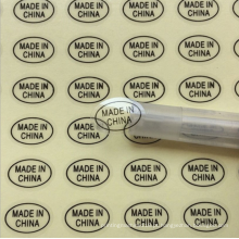 Etiqueta impressa com logotipo transparente