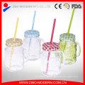 16oz Reinigung Custom Stroh China Großhandel Mason Jar Griff