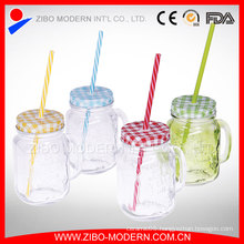 16oz Cleaning Custom Straw China Wholesale Mason Jar Handle