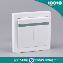 Interruptor de pared inteligente Igoto E9021 2 Gang 1 Way para el hogar