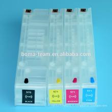 Cartouche d'encre de recharge vide 4Colors pour HP 970 971 pour imprimantes HP Officejet x451dn x551dw