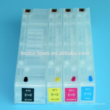 4Colors Empty Refill ink cartridge For HP 970 971 For HP Officejet x451dn x551dw Printers