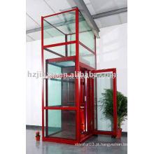 Luxo 200kg mini casa elevador elevador de vidro elevador