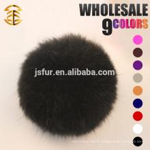 Colorful Lovely Pom Poms Véritable étiquette de boule de fourrure de lapin de 5 à 10 cm