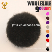 Colorful Lovely Pom Poms Genuine 5-10cm Rabbit Fur Ball Keychain