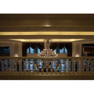 Hochglaskristall Treppengeländer