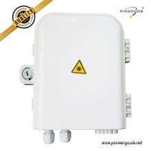PG-FTTH0208B 8 núcleos FTTH montaje en pared exterior caja de terminales de distribución de gestión de fibra óptica