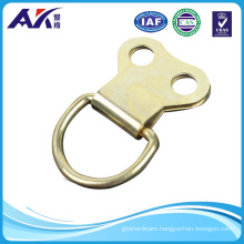 Picture Frame Hanging D Ring Double Eb Brass Plated with Screw