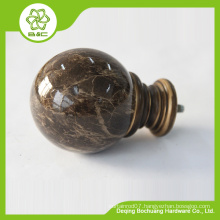 good quality resin curtain finial classical curtain finial for pole