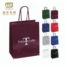 Förderndes Luxusgoldfolien-Stempeln kundengebundene Einkaufsgeschenk-Taschen-Papiertüte