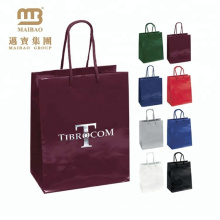 Promotional Luxury Gold Foil Stamping Customized Shopping Gift Bags Paper Bag
