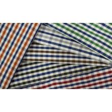 Controles estriada cómodo hilado teñido de tela de la camisa