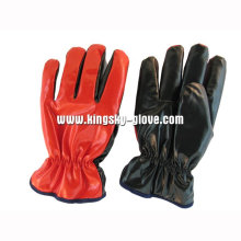 Red Nitrile Laminated Full Acrylic Pile Winter Glove-5403. Rd