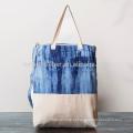 Saco de compras de linho de algodão personalizado eco friendly