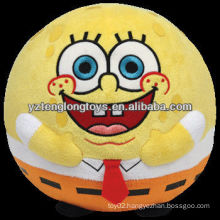 Plush stuffed SpongeBob ball toy for dogs