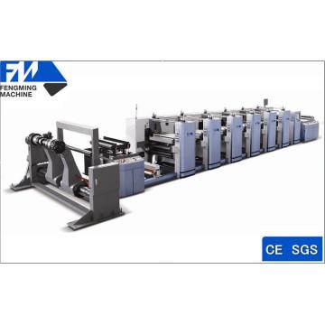 Máquina de impresión flexográfica de control de microordenador