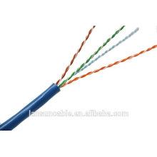 Cable de la red del cable del utp del cat5e de la prueba de la actitud con el funcionamiento excelente