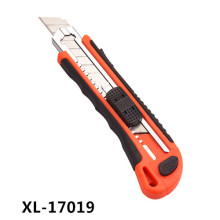 5 Blade Auto Loading Utility Knife, Rubber Handle Utility Knife