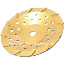 Rueda de metal diamantado para la molienda y pulido de hormigón