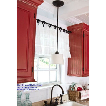 Industrial Adjustable Stainless Steel Tension Rods In The Kitchen