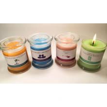 Bougies de pot de verre d'Aromatherapy, bougie de cadeau