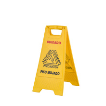 PP Material Yellow Warning Sign Caution Wet Floor Sign