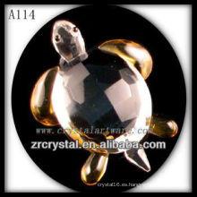 Bonita estatuilla de animales de cristal A114