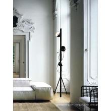 Dormitorio de lámpara de piso de metal negro (ML21190-3)