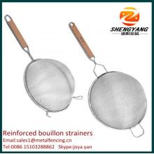 Новый металл ремесло приготовления проволоки двойной сетки мелкие клецки сита из нержавеющей стали усиленные бульон ситечко