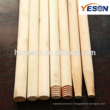Outils propres poignée de balai en bois naturel / 120mm * poignée de balai en bois vernie 22mm