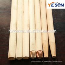 Ferramentas limpas madeira natural vassoura alça / 120mm * 22mm verniz madeira vassoura alça