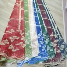 Tissu de rideau de tricotage de maille de chaîne de dentelle bon marché de Shaoxing