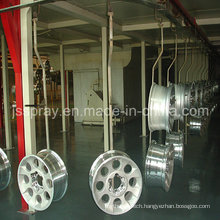 Electrophoresis Conveyor Spray Coating Line for Car Rims